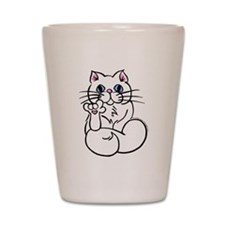 Longhair ASL Kitty Shot Glass