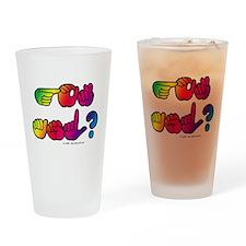 Got ASL? Rainbow SQ Drinking Glass