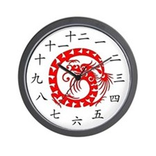 Chinese Dragon Wall Clock