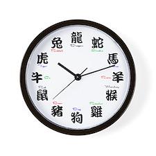 Chinese Zodiac Compatibility Wall Clock