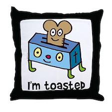 Happy Toaster Throw Pillow