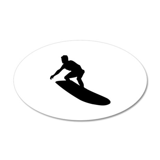 Surfing 22x14 Oval Wall Peel