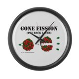 Gone Fission Large Wall Clock