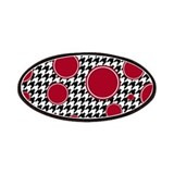 Crimson Circle &amp; Houndstooth Patches