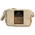 East Stained Glass Window Chr Messenger Bag