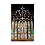 East Stained Glass Window Chr 22x14 Wall Peel