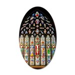 East Stained Glass Window Chr 22x14 Oval Wall Peel