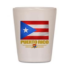 Flag of Puerto Rico Shot Glass