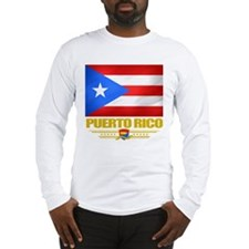 Flag of Puerto Rico Long Sleeve T-Shirt