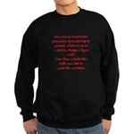 funny science joke Sweatshirt (dark)