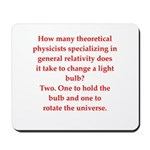 funny science joke Mousepad