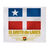 El Grito de Lares Throw Blanket