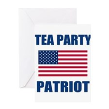 tea party patriot Greeting Card