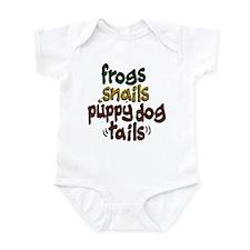 Frog Snails Puppydog Tails Infant Bodysuit