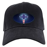American Flag Cross Baseball Cap