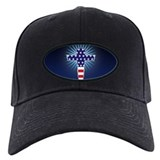 American Flag Cross Baseball Hat