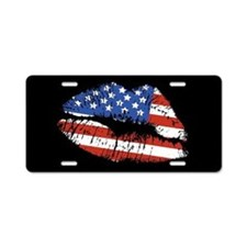 American Kiss Aluminum License Plate