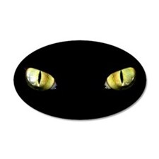 Cat Eyes 22x14 Oval Wall Peel