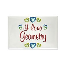 I Love Geometry Rectangle Magnet