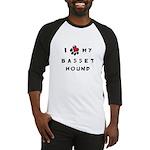 I *heart* My Basset Hound Baseball Jersey