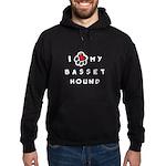 I *heart* My Basset Hound Hoodie (dark)