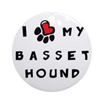I *heart* My Basset Hound Ornament (Round)
