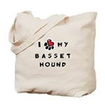 I *heart* My Basset Hound Tote Bag