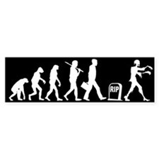 Zombie Evolution - Bumper Sticker