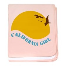 California Girl baby blanket