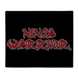 Ninja Warrior Throw Blanket