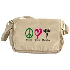 Peace, Love, Nursing Messenger Bag