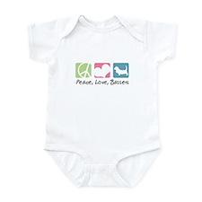 Peace, Love, Bassets Infant Bodysuit