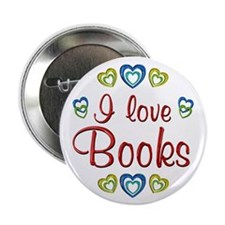 "I Love Books 2.25"" Button (10 pack)"