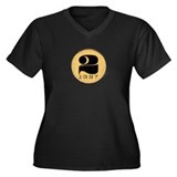 2LEET Women's Plus Size V-Neck Dark T-Shirt