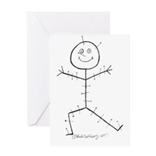 Acupuncture Sticky Greeting Card