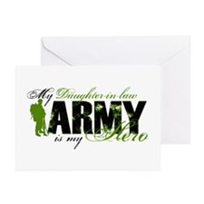 Daughter-in-law Hero3 - ARMY Greeting Cards (Pk of