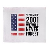 9 11 Remembering Throw Blanket