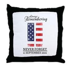 9 11 Remembering Throw Pillow