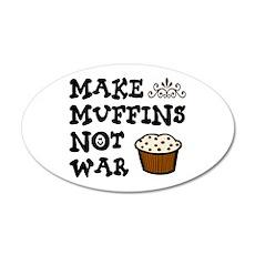 'Make Muffins' 38.5 x 24.5 Oval Wall Peel