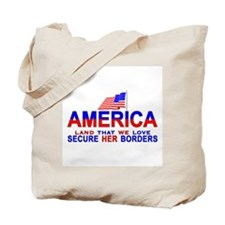 News Secure Our Borders  Tote Bag