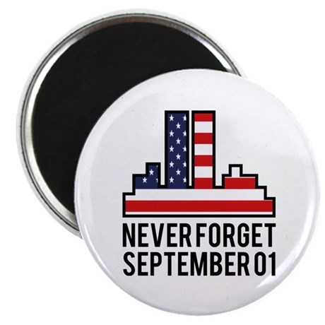 "9 11 Never Forget 2.25"" Magnet (100 pack)"