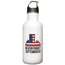 9 11 Never Forget Water Bottle