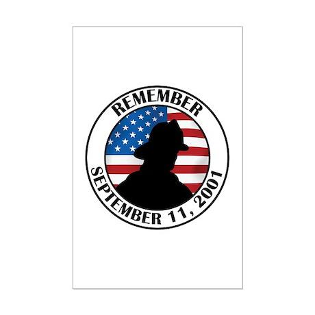 Remember 9 11 Mini Poster Print