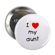 "I love my aunt 2.25"" Button (10 pack)"