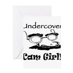 Undercover Cam Girl Greeting Card