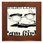 Undercover Cam Girl Framed Tile