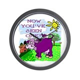 Purple Cow / Farm Wall Clock