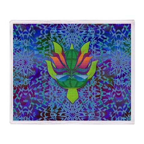 Flying Turtle Throw Blanket
