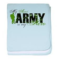 Aunt Hero3 - ARMY baby blanket