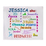 Jessica's nicknames Throw Blanket